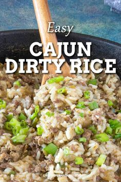 This Cajun side dish of dirty rice is made using chicken livers but can be modified with other meats or made vegetarian. An easy weeknight meal. Spicy Chicken Recipes, Cajun Recipes, Best Side Dishes, Side Dish Recipes, Dirty Rice Recipe, Etouffee Recipe, Homemade Cajun Seasoning, Creole Recipes, Chicken Livers