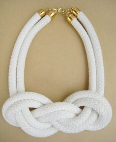 White Rope Nautical Knot | SisMade Jewelry