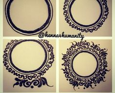 Hasil gambar untuk henna design for wedding simple Mehandi Henna, Jagua Henna, Tatoo Henna, Henna Tattoo Designs, Mehndi Art, Henna Art, Mehndi Designs, Mehendi, Disney Henna