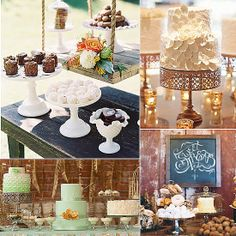 POPSUGAR Wedding Roundup: Dresses, Decor, Music, and More For Your Big Day: Keeping your theme and your love for sweets in mind, POPSUGAR Food found dessert tables fitting for all weddings. Whether you're the rustic or romantic type, rest assured your sweet tooth will be satisfied.