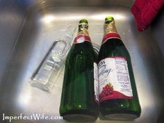 How To Remove Labels From Wine Bottles