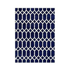 Anji Mountain Rayon made from Bamboo Viscose Lattice Area Rug - Navy ($563) ❤ liked on Polyvore featuring home, rugs, blue, viscose rug, navy rug, dark blue rug, navy area rug and lattice rug