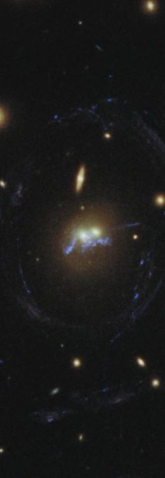 7/11/2014: This Hubble image shows two galaxies from the cluster SDSS J1531+3414 that are merging into one & a 'chain' of young stellar superclusters are seen winding around the galaxies' nuclei. Image credit: NASA, ESA/ Hubble & Grant Tremblay (ESO)  (more pics/ video at link)