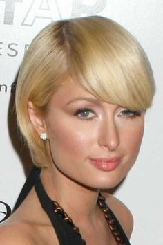 Paris Hiltons sleek short hairstyle