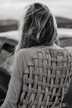macrame woven back - Wheretoget