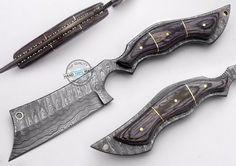 "10.50"" Custom Made Beautiful Damascus Steel Full tang Razor Knife (AA-0176-47) #UltimateWarrior"