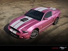 Pink and White Cobra Mustang