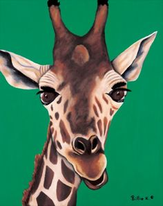Giraffe Painting - Limited Edition Fine Art Canvas Giclee Titled: Bella via Etsy