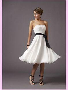 White Sash Organza Short Bridesmaid Dress @Brittany Horton Bridges  love this one
