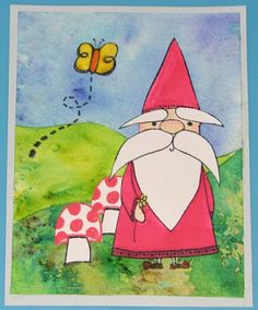 Brusho Gnome Card - Unity Stamps