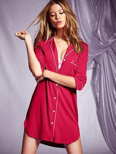 Supersoft Sleepshirt red xs
