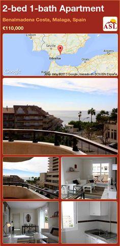2-bed 1-bath Apartment in Benalmadena Costa, Malaga, Spain ►€110,000 #PropertyForSaleInSpain