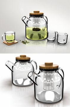A unique filter adopts the concept of a shape-memory alloy to control the tea-brewing time in a technical manner for the optimal tea experience.