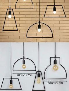 Vintage Loft Industrial lâmpada do teto caráter geométrico restaurante Bar luminária café de jantar restaurante lâmpada do teto em Luzes de teto de Luzes & Iluminaçao no AliExpress.com | Alibaba Group