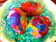The Chocolate Muffin Tree: Tissue Paper Mache Easter Egg Sculptures
