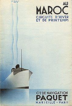 """""""Au Maroc - Circuits d'Hiver et de Printemps,"""" 1932"""