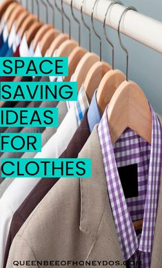 Using these storage tips can save lots of space in your closets and drawers. Get organized today! #closets, #storage #kondo #organization