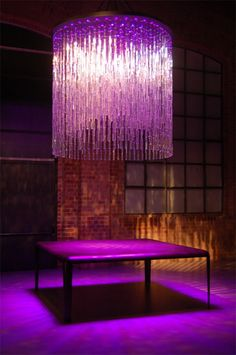 Modern Interior Ligting Swarovski Crystal continues to add its sparkle to all aspects of our lives with its new line of wall elements. Swarovski Architecture has wall and ceiling elements that create a new dimension with light and reflective accents. Purple Love, All Things Purple, Shades Of Purple, Light Shades, Magenta, Lamp Light, Light Up, Light Fixture, Lila Gold