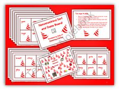 Nonsense Word Sort and Game Board product from Elementary-Matters on TeachersNotebook.com