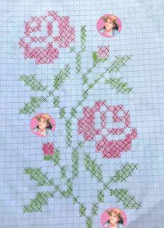 Small Cross Stitch, Cross Stitch Heart, Cross Stitch Borders, Cross Stitch Flowers, Cross Stitch Patterns, Hardanger Embroidery, Embroidery Stitches, Embroidery Patterns, Ribbon Embroidery Tutorial