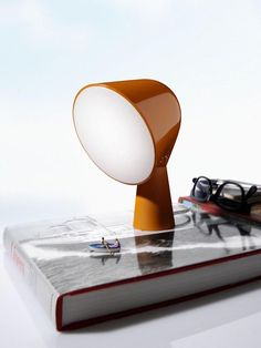 binic lamp.  just the right size for a very small bedside table.