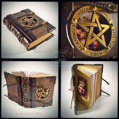 The Necronomicon - wooden leather journal, 9x7 in. by alexlibris999.deviantart.com on @deviantART