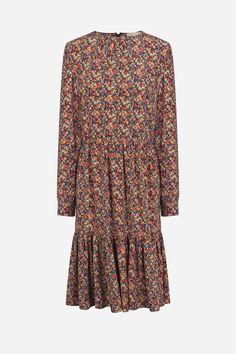 Silk Helno dress printed Heather - VANESSABRUNO