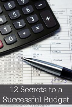 12 Secrets to a Successful Budget #budget #budgeting