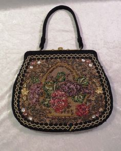 Vintage Black Beaded Purse Veldore' of by EMStreasureseekers, $36.00