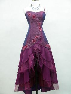 Satin Dark Purple Prom Ball Gown Wedding/Evening Dress.... Who cares what they call it! I LOVE IT!