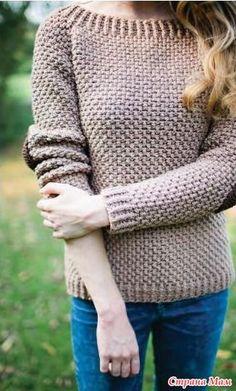 Джемпер крючком ELBOW - Вязание - Страна Мам