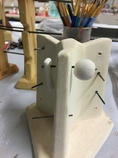 Pottery ceramics bead rack