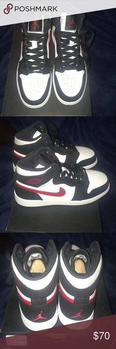 save off 13cac acc0d Description  New Youth Air Jordan 1 Retro High GS Shoes Black White Gym Red  Sold by Fast delivery, full service customer support.