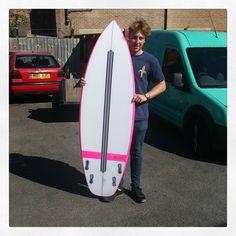 Mike collecting his custom Scavenger. #visionary #custommade #scavenger #shortboard #surfboards #madetoorder #pink #madeintheuk http://ift.tt/19MEsb6 http://ift.tt/1v0LElc