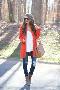 # Curls & Pearls Trends Of Winter Apparel Fuzzy Wuzzy Wuzzy Cardis Wuzzy Cardi Tangerine Wuzzy Cardi Clothing Wuzzy Cardi 2015 Wuzzy Cardi Outfits Wuzzy Cardi How To Style Fashion Moda, Look Fashion, Fashion Outfits, Womens Fashion, Fall Fashion, Fashion 2017, Cardigan Outfits, Casual Outfits, Cute Outfits