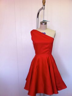 Red hot dress for swing dancing