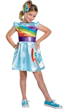 Girls My Little Pony Rainbow Dash Costume - Party City