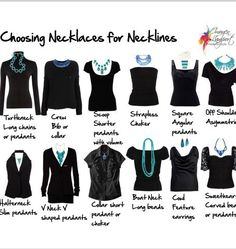 Fashion Tips - Neckline and Necklaces... when I am skinny, I want to feel pretty every day