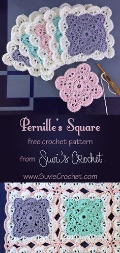 A free crochet pattern for a lace heirloom square with instructions to join-as-you-go to make your own heirloom baby blanket. It is available as written instructions and as a stitch chart. Crochet Blanket Edging, Crochet Squares Afghan, Crochet Hook Set, Granny Square Crochet Pattern, Crochet Stitches Patterns, Free Crochet, Afghan Patterns, Crochet Blankets, Baby Blankets