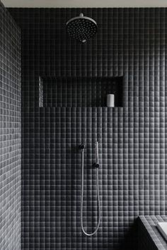 Inspiring Black Bathroom Shower Ideas For Small Bathroom Modern Shower, Modern Bathroom, Small Bathroom, Bathroom Black, Bathroom Ideas, Shower Ideas, Bathroom Remodeling, Bathroom Designs, Remodeling Ideas