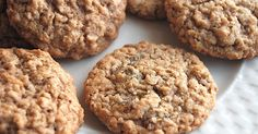 An old-fashioned, soft/moist oatmeal cookie studded with raisins.