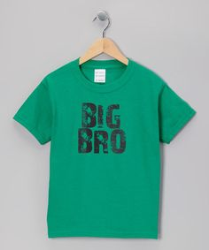 Take a look at this Kelly Green 'Big Bro' Tee - Toddler & Boys by Micro Me on #zulily today!