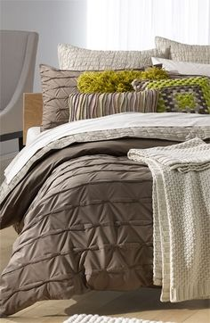 Bedding (Duvet): Nordstrom at Home 'Wraparound Pleat - Stone Fossil' Collection   Nordstrom