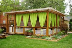 18 способов создать шторы для беседок и веранд: из ткани, бамбука, прозрачного ПВХ. | Частный Дом