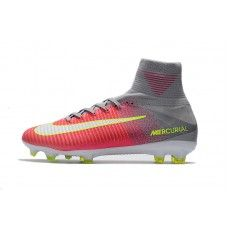 cheap for discount 0060a e3be9 Nike Mercurial - Baratas 2017 Nike Mercurial Superfly V FG Rosado Gris Botas  De Futbol