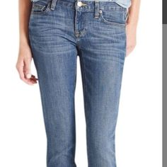J.Crew Hip-Slung Jeans First pic is of model wearing this style of Jeans. The rest of pics are actual color/item. Straight Leg. 14 inches across laying flat (28 inch waist). 8.5 inch rise. 30 inch inseam, 8.5 inch leg opening. This item is NOT new, It is used and in Good condition. Smoke And Pet free home. All Offers through the offer button ONLY.  Ask any questions BEFORE purchase. Please use the Offer button, I WILL NOT negotiate in the comment section. Thank You😃 J. Crew Jeans Straight…