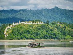 Massein monastery on the upper Chindwin, Myanmar