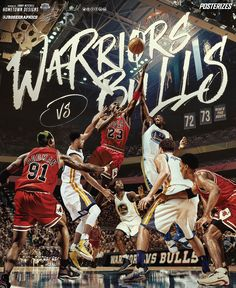 Warriors vs Bulls on Behance Michael Jordan Art 9d4d20044