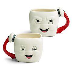 Ghostbusters Stay Puft Marshmallow Face Mug | ThinkGeek Men Coffee, Best Coffee Mugs, Tea Mugs, Coffee Cups, Funny Coffee, Funny Mugs, Marshmallow Face, Ghostbusters Stay Puft, Ghostbusters Movie