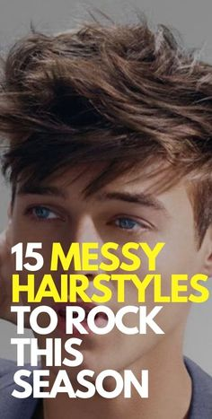 15 Messy Hairstyles To Rock now Cool Hairstyles For Men, Men's Hairstyles, Messy Hair Look, Messy Hairstyle, Bad Hair Day, Medium Long, Beard Styles, Face Shapes, Hair Type